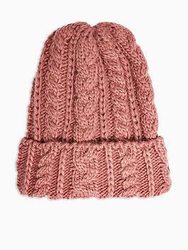 topshop-cable-knit-beanie-hat-plum
