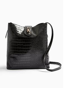 topshop-topshop-croc-tote-bag-black