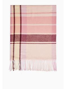 topshop-pop-pink-check-scarf-pink