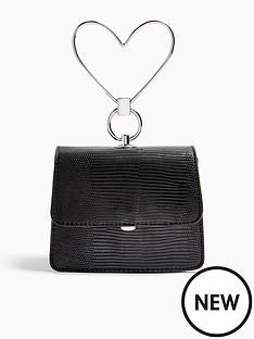 topshop-topshop-lily-heart-handle-grab-bag-black