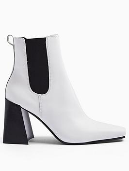topshop-harbournbspchelsea-boot-white