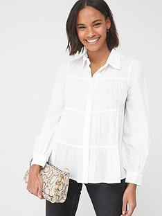 v-by-very-tiered-cottonnbspblouse-white