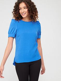 v-by-very-button-ruched-sleeve-shell-top