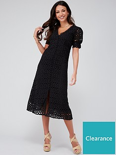 michelle-keegan-broiderie-midi-dress-black