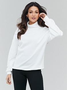 michelle-keegan-high-neck-sweater-ecru