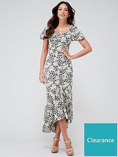 michelle-keegan-printed-satin-midi-dress-animal-print
