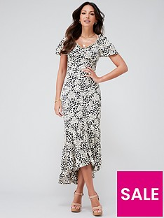 michelle-keegan-printed-satin-midi-dress-animal-print