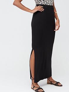 v-by-very-tall-split-side-jersey-maxi-skirt-black