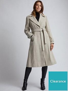 dorothy-perkins-dorothy-perkins-herringbone-wrap-coat-multi
