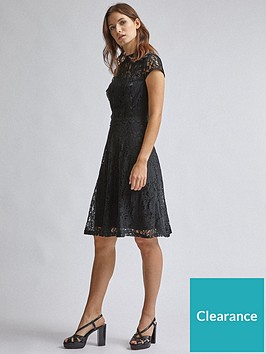 dorothy-perkins-lace-detail-fit-and-flare-dress-black