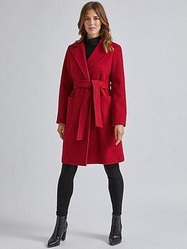 dorothy-perkins-dorothy-perkins-patch-pocket-wrap-coat-red