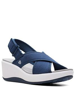 clarks-cali-cove-wedge-sandal-navy
