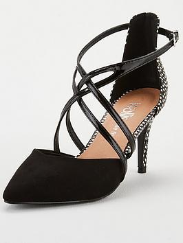 wallis-wide-fit-cross-strap-court-shoe-black