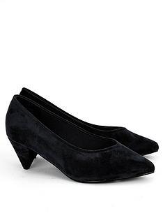 evans-extra-wide-fit-fliss-cone-heel-microfibre-court-shoes-black
