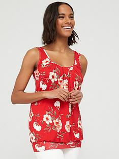 v-by-very-scoop-neck-bubble-hem-vest-red-print