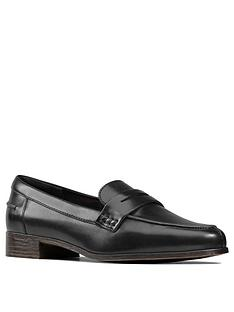 clarks-hamble-leather-loafers-black