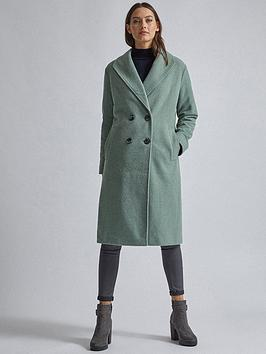 dorothy-perkins-dorothy-perkins-relaxed-double-breasted-coat-sage