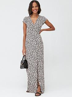 v-by-very-tall-jersey-short-sleeve-wrap-maxi-dress-leopard-print