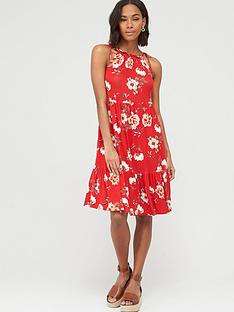 v-by-very-tiered-jersey-tie-shoulder-short-dress-red-print