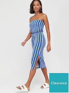 v-by-very-bardot-channel-waist-jersey-midi-dress-stripe