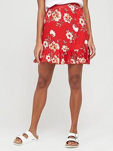 v-by-very-frill-hem-jersey-mini-skirt-red-print