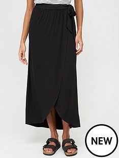v-by-very-wrap-jersey-maxi-skirt-black