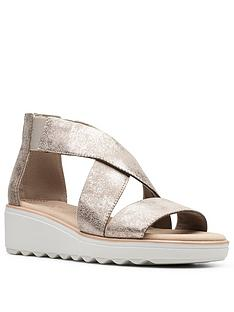 clarks-jillian-low-rise-leather-wedge-sandal-pewternbsp