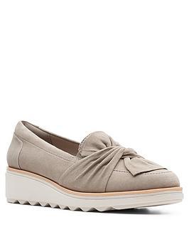 clarks-sharon-dasher-leather-wedge-loafer-sage