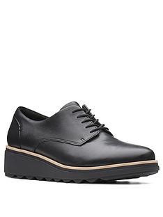 clarks-sharon-noel-leather-wedge-brogues-black