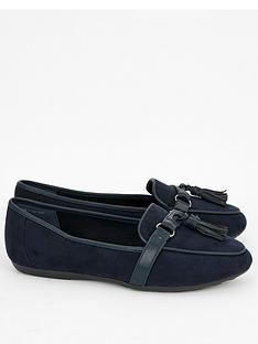 evans-wide-fit-rannie-tassel-loafers-black