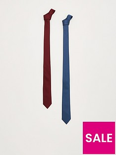 v-by-very-2-pack-slim-plain-ties-navyburgundynbsp