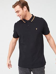 v-by-very-fluro-tipped-collar-polo-shirtnbsp--blackorange