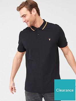 very-man-fluro-tipped-collar-polo-shirtnbsp--blackorange