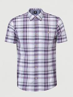 v-by-very-short-sleevednbspcheck-shirt-lilac