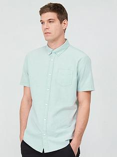v-by-very-short-sleeved-button-down-oxford-shirt-mint