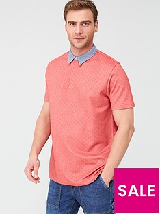 v-by-very-ditsy-chambray-collar-polo-shirt-red