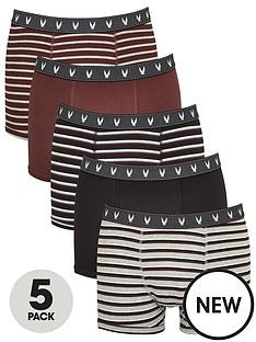 v-by-very-5-pack-fashion-stripe-trunks-burgundy