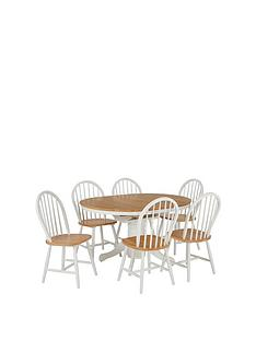 prod1089263952: New Kentucky 100 - 133 cm Extending Dining Table + 6 Chairs