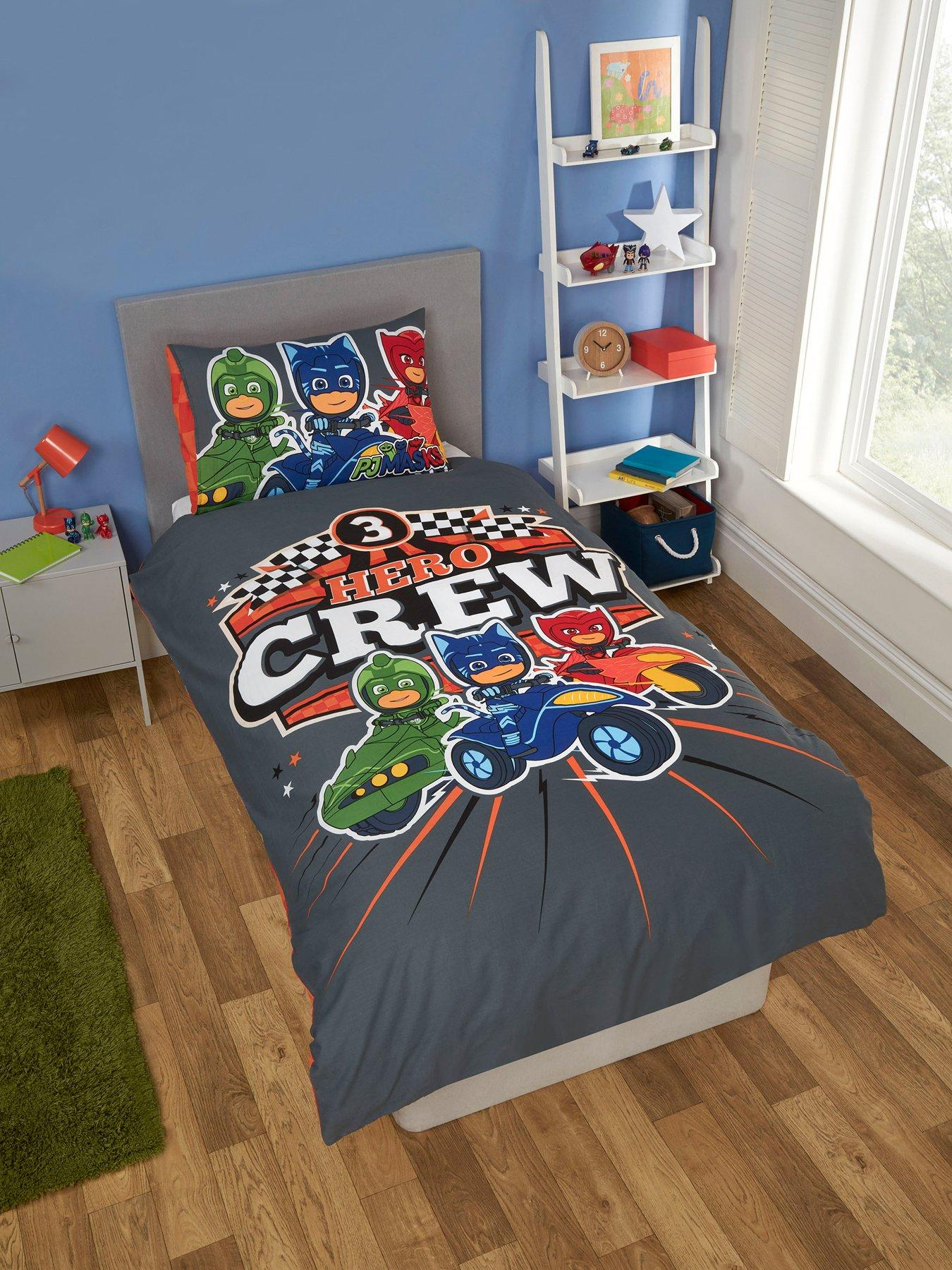 Owlette and Gekko Superheroes Of The City PJ Mask Quilt Single Cover Set Catboy