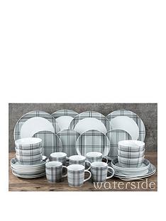 waterside-grey-tartan-30-piece-dinner-set