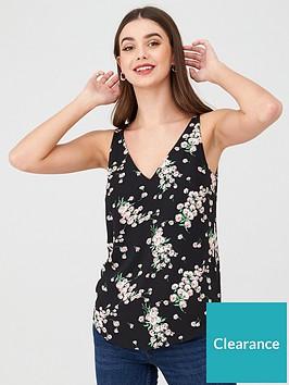 oasis-dandelion-floral-vest-multiblack