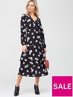 oasis-pop-floral-midi-dress-multi-black