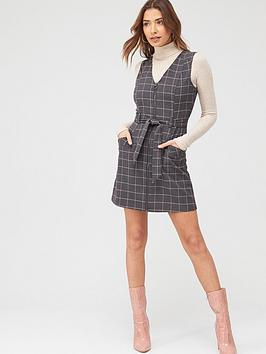 oasis-check-zip-through-shift-dress-greynbsp