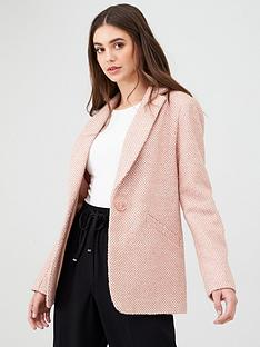oasis-pink-tweed-blazer-pale-pink