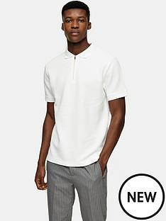 topman-waffle-texture-smart-polo-shirt-white