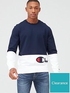 champion-colour-block-crew-neck-sweatshirt-navywhite