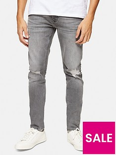 topman-ripped-super-skinny-jeans-grey