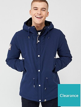 pretty-green-melange-hooded-jacket-navy