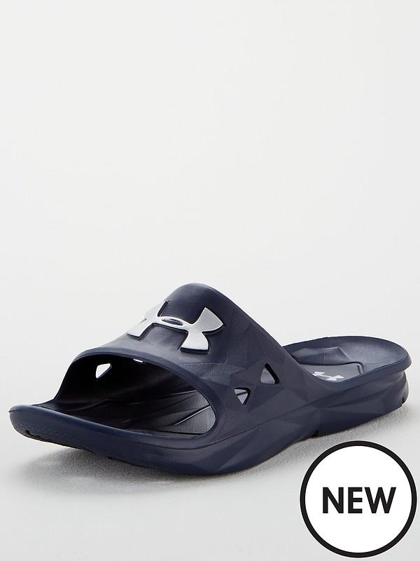Under Armour Men/'s Locker III Slides Flip Flops Black All Sizes Sandals