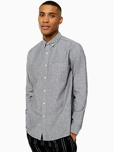 topman-washed-black-long-sleeve-shirt